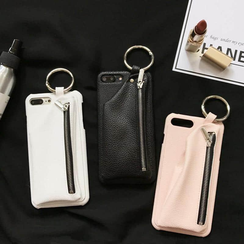 Apple iPhone Cover Case Leather Hülle Faux Leder Tasche Hülle