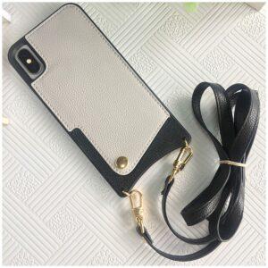 Apple iPhone Faux Leder Hülle mit Riemen Crossbody hüllen